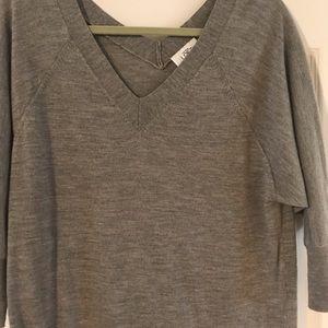 Gray LOFT Dolman Sweater Dress